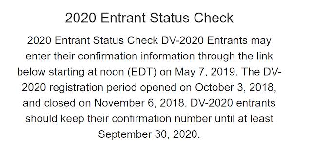 نتيجة القرعة الأمريكية 2020 نتيجة اللوتري 2020 dvlottery