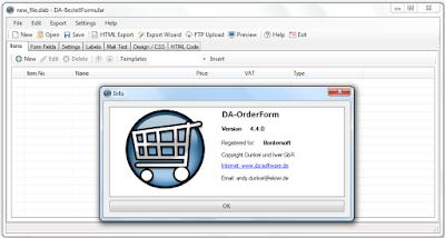 Screenshot DA-OrderForm 4.4.0 Full Version