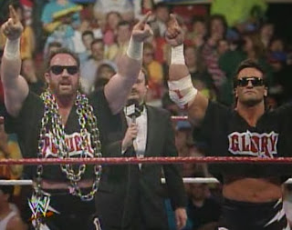 WWF / WWE - Wrestlemania 7:  Power and Glory (Paul Roma and Hercules) were destroyed by the Legion of Doom
