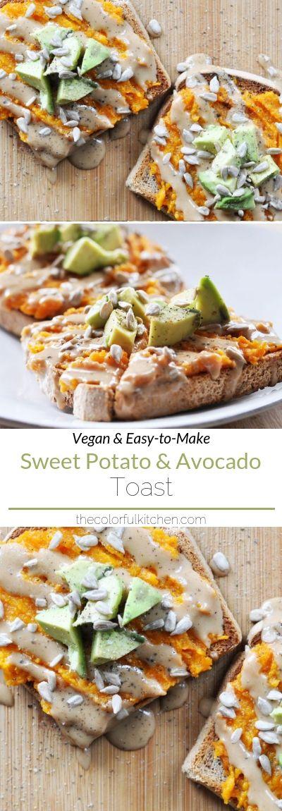 Vegan Sweet Potato and Avocado Toast