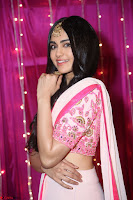 Adaa Sharma in White Pink Saree at Zee Telugu Apsara Awards 2017 07.JPG