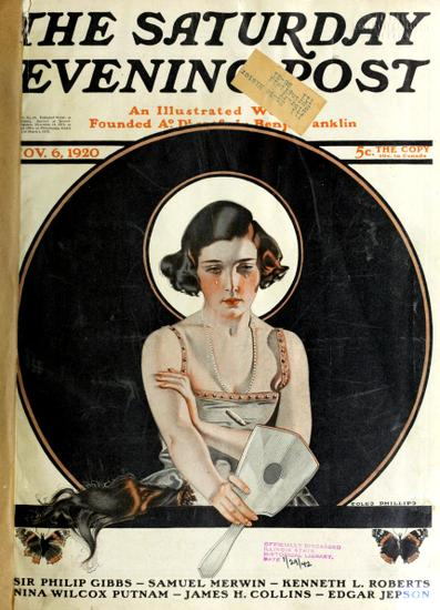 Bobber's Regret - Cover of Nov 6, 1920 Saturday Evening Post, illustration by Coles Phillips