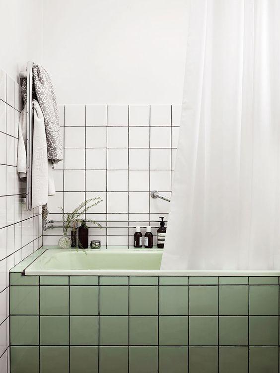 Juntas Azulejos Baño Negras:Estoy MUY enamorada de este baño y todo por las juntas negras Si