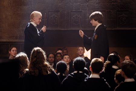 Harry Potter and the Chamber of Secrets 2002 movieloversreviews.filminspector.com Daniel Radcliffe Tom Felton