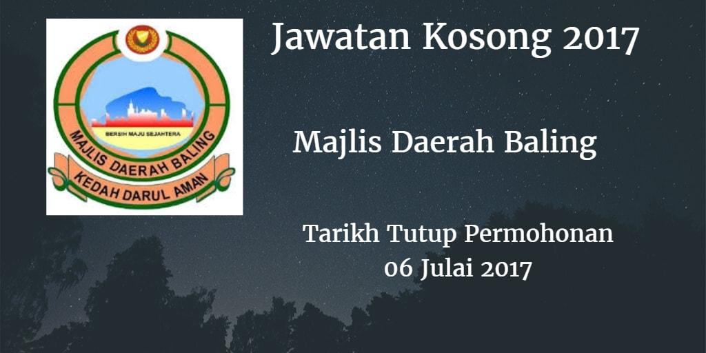 Jawatan Kosong MD Baling 06 Julai 2017
