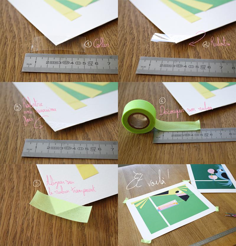Les étapes pour appliquer correctement son masking tape sans abimer la reproduction ou l'oeuvre originale