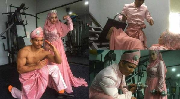 [9 FOTO] Pengantin Baru Dikecam Teruk Netizen, Ramai 'Muntah Hijau' Tengok Gambar Kahwin Mereka