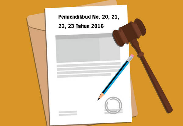 Permendikbud No. 20, 21, 22, 23 Tahun 2016