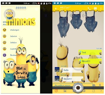 BBM Mod Minions Theme Version 2.12.0.9 Apk