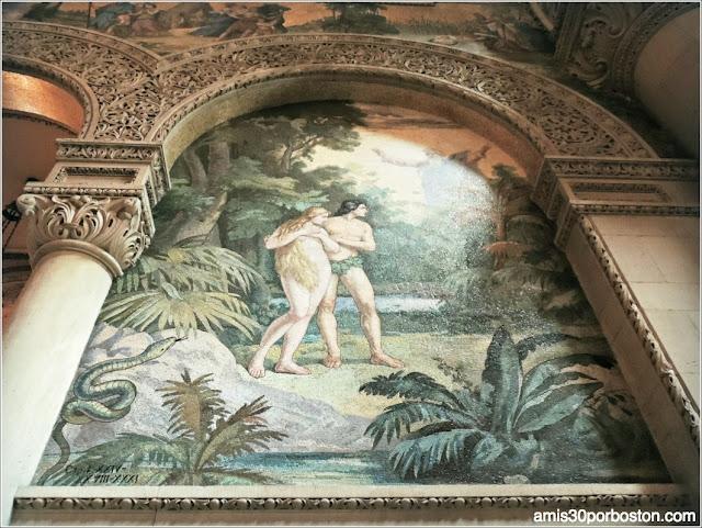 Mosaico Adán Y Eva Interior Stanford Memorial Church