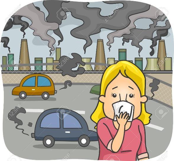 contaminación atmosferica para niños