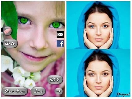 Contoh Penggunaan Aplikasi Eye Color Booth