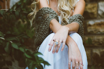 woman wearing pretty cute rings