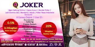 QJoker Agen BandarQ Online Win Rate Tertinggi Indonesia - www.Sakong2018.com