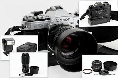 Vintage Canon SLR Cameras submenu page