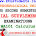 Question Paper for Calculus MA101-Special Supplementary Examination Aug/Spt 2016