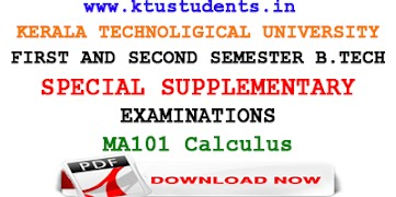 KTU Calculus Full Modules Notes | MA101 Lecture Notes | Question