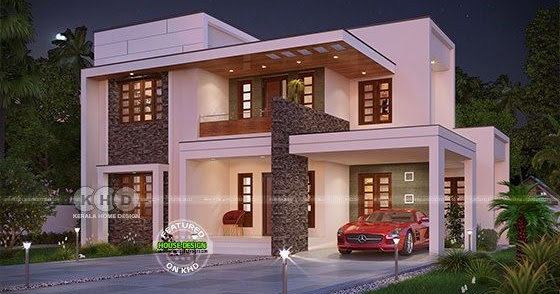 2165 sq-ft 4 bedroom contemporary flat roof house - Kerala ...