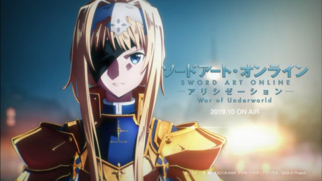 Sword Art Online Alicization War of Underworld akan Tayang Oktober Nanti