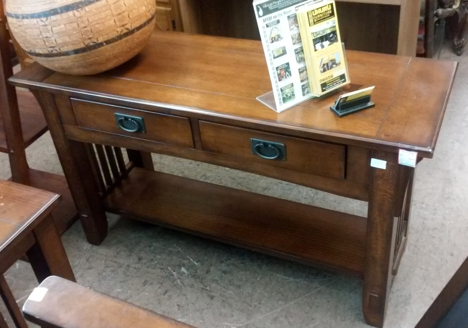 Uhuru furniture collectibles sold 6860 modern mission - Table console extensible solde ...