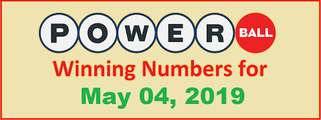 PowerBall Winning Numbers for Saturday, May 04, 2019