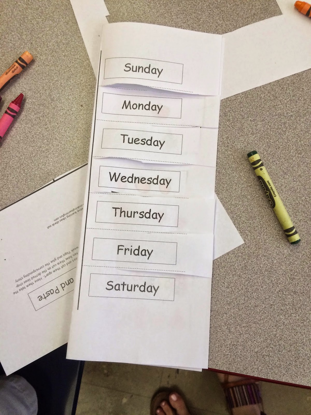 The Garden Where Kinder Grows: Days of the Week Activity