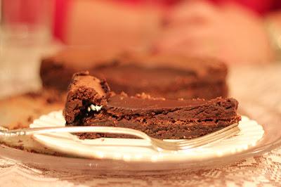 Flourless Chocolate Cake With Chocolate Espresso Glaze