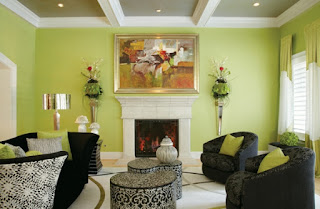 sala color gris y verde