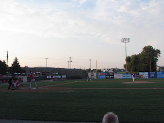 First pitch, Muckdogs vs. Crosscutters