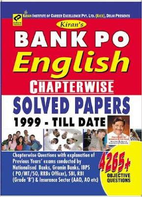 Kiran Bank PO English Chapterwise Solved Papaer pdf 1999 – till date Full Book