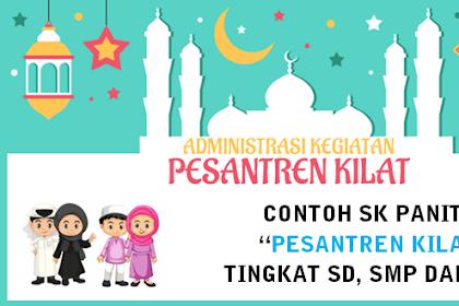 Download Contoh SK Panitia Pesantren Kilat tingkat SD, SMP dan SMA tahun 2019