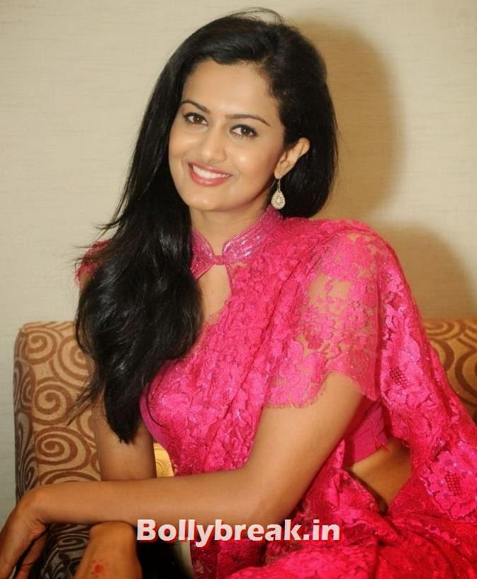 , south Actress Shubra Aiyappa  Pics in Red Saree - 2014