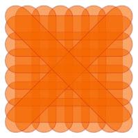 Quadrat mit Wellenrand und sichtbaren Einzelformen