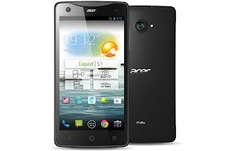 Harga Acer Liquid S1 Terbaru, Didukung Kamera Selfie 2 MP