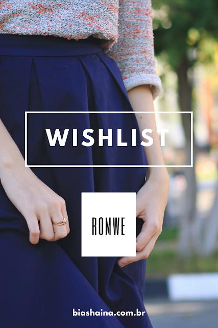 Wishlist Romwe: Vamos Arrasar