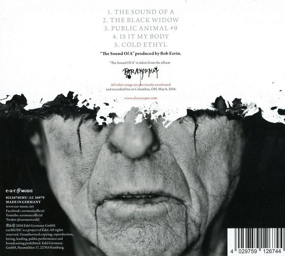 ALICE COOPER - The Sound Of A [EP] (2018) back