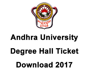 AU Degree Hall Ticket 2017