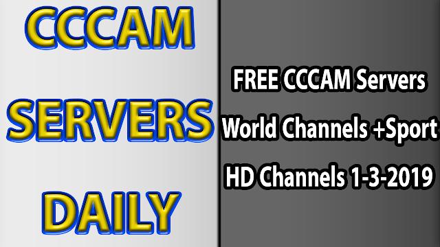 FREE CCCAM Servers World Channels +Sport HD Channels 1-3-2019