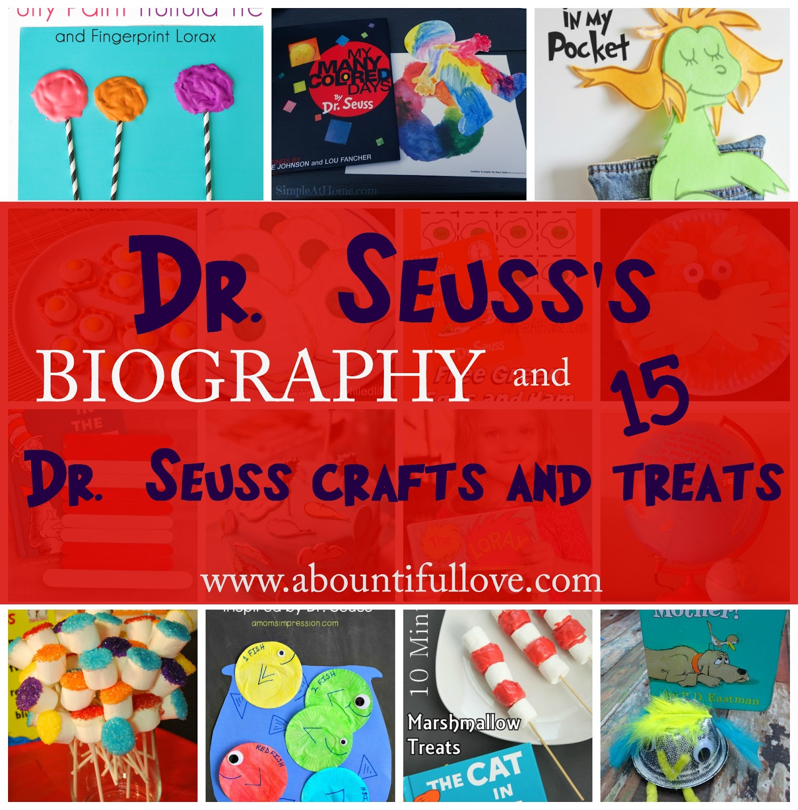 Dr Seuss S Biography Crafts And Treats