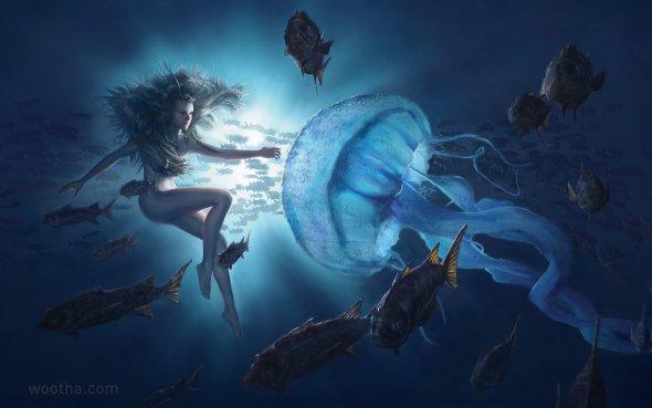 Stéphane Wootha Richard artstation deviantart arte ilustrações fantasia ficção científica surreal