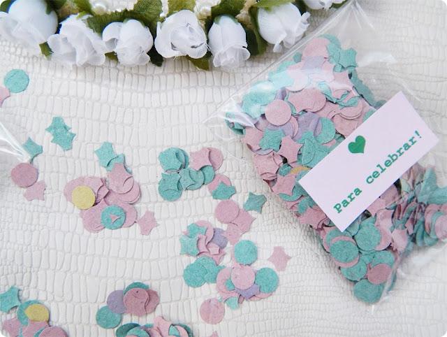 confetes para cerimônia de casamento