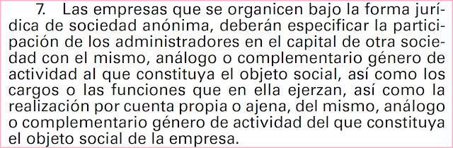 Extracto contenido mínimo Memoria, punto 23. PGC