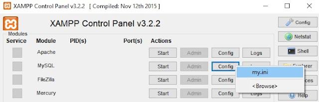 Modificar My.ini MySQL