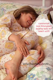 cara mengatasi kejang kaki semasa tidur