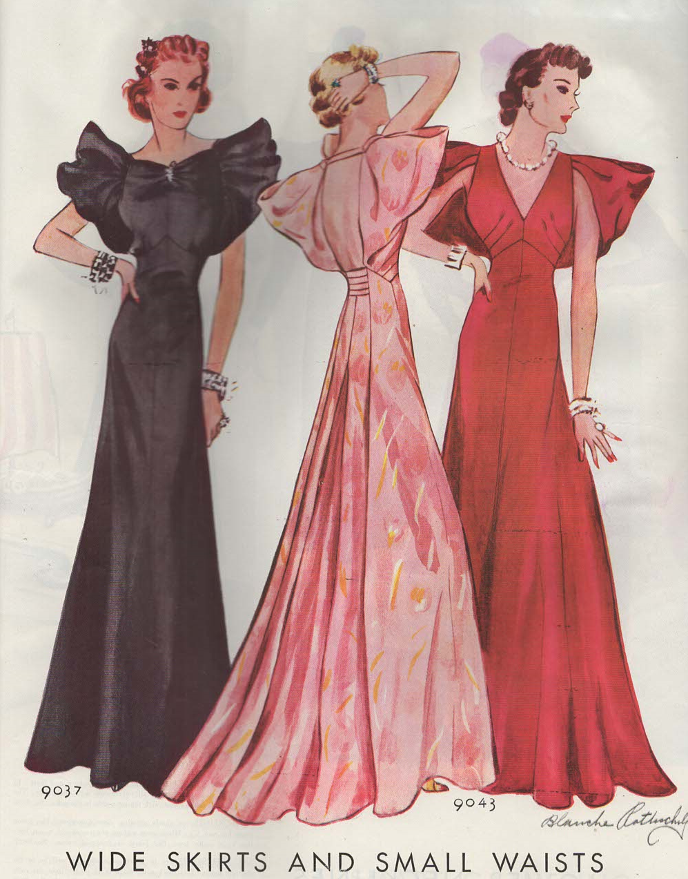 The Midvale Cottage Post: 1930s Ball Gowns Put the Accent on the ...