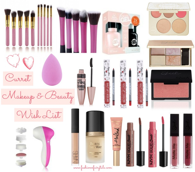 Current Makeup & Beauty Wish List