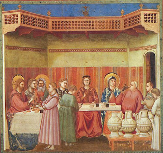 Marriage at Cana by Giotto di Bondone (1267-1337)