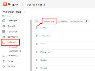 Cara Memasang Disclaimer di Laman Blog