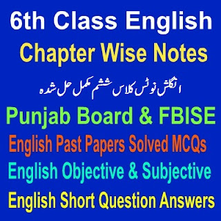 Solved Questions And Answers Full Chapters six Class Notes Punjab Board
