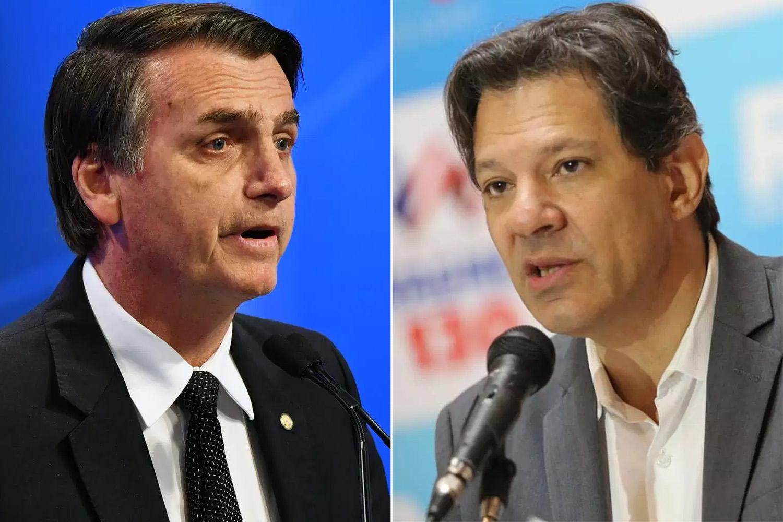 Resultado de imagem para Rivais sobem tom contra Bolsonaro e Haddad em penúltimo debate na TV
